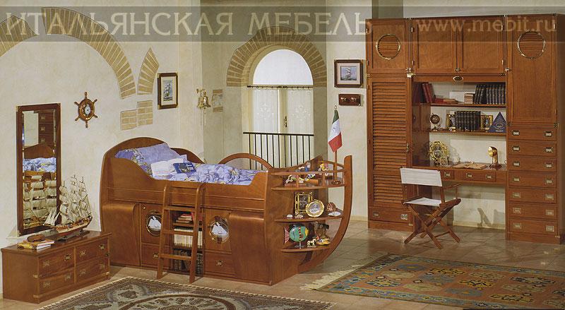 кровать детская корабль