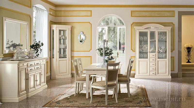 Интерьер классика белая мебель